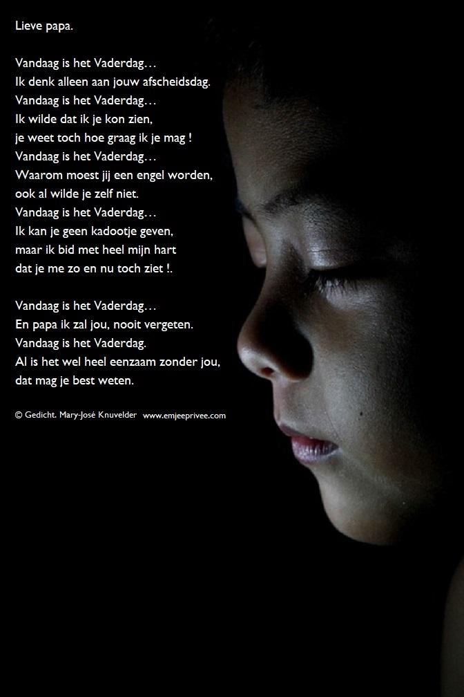 Gedicht Lieve Papa Emjeeprivee