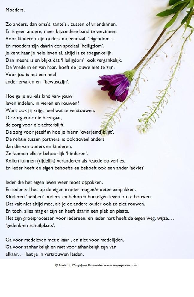 Gedicht Moeders Emjeeprivee