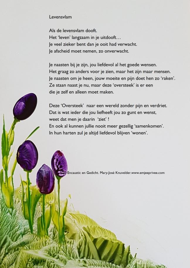 Gedicht En Encaustic Levensvlam Emjeeprivee